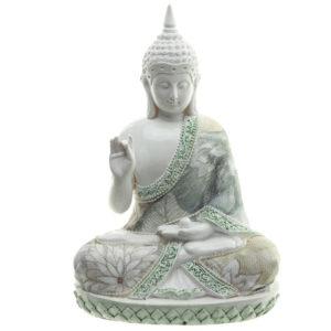Decorative Floral Thai Buddha Wisdom Figurine