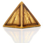 Decorative Gold Egyptian Pyramid Ornament