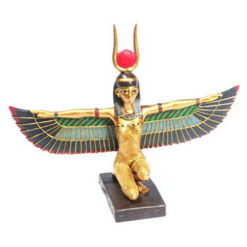 Decorative Gold Egyptian Winged Isis Figurine