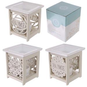 Decorative Home Design Ceramic and Wood Oil Burner