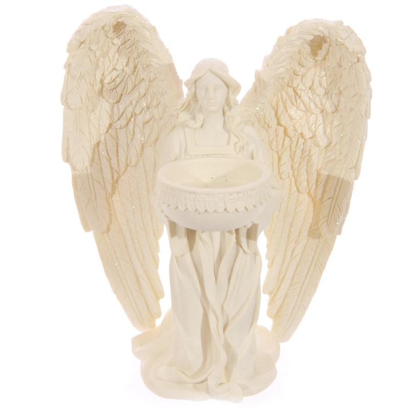 Decorative Kneeling Angel Cream Tealight Holder