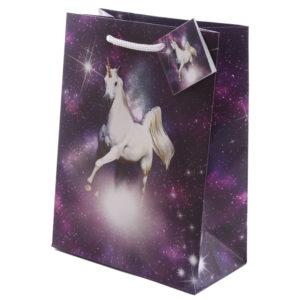 Fantasy Cosmic Unicorn Medium Glossy Gift Bag