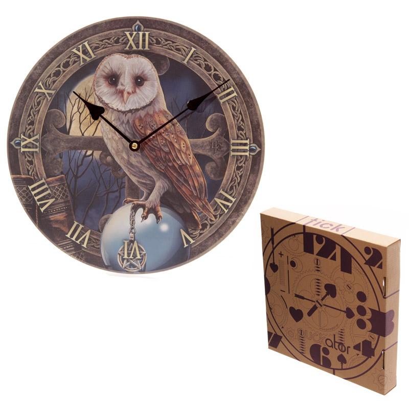 Fantasy Magical Barn Owl Design Decorative Wall Clock