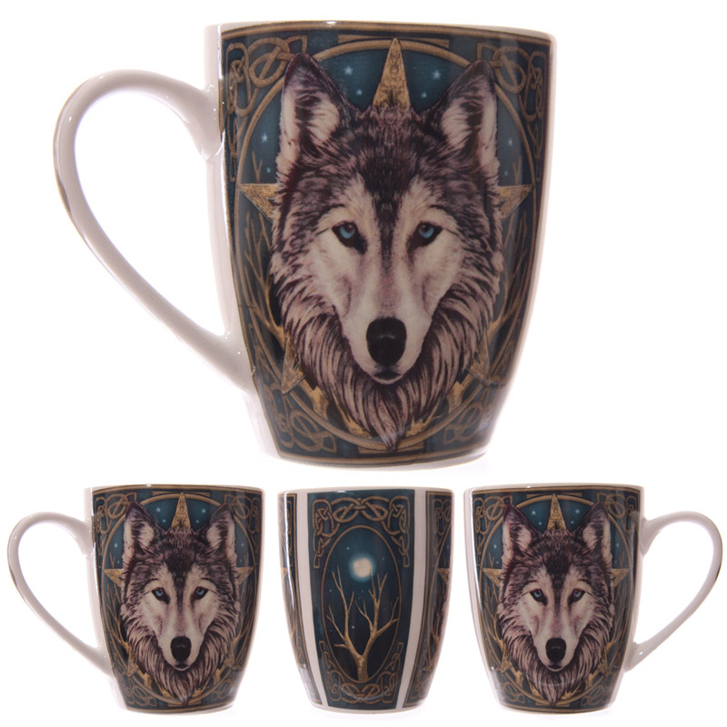 Fantasy Wolf Head Design New Bone China Mug