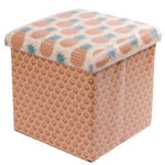 Foldable Padded Stool  and  Storage Box - Tropical Design