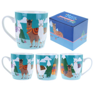 Fun Animal New Bone China Mug - Alpaca Design