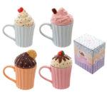 Fun Ceramic Cute Cupcake Mug with Lid