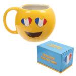 Fun Collectable Ceramic French Flag Eyes Emotive Mug