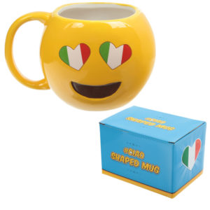 Fun Collectable Ceramic Italian Flag Eyes Emotive Mug