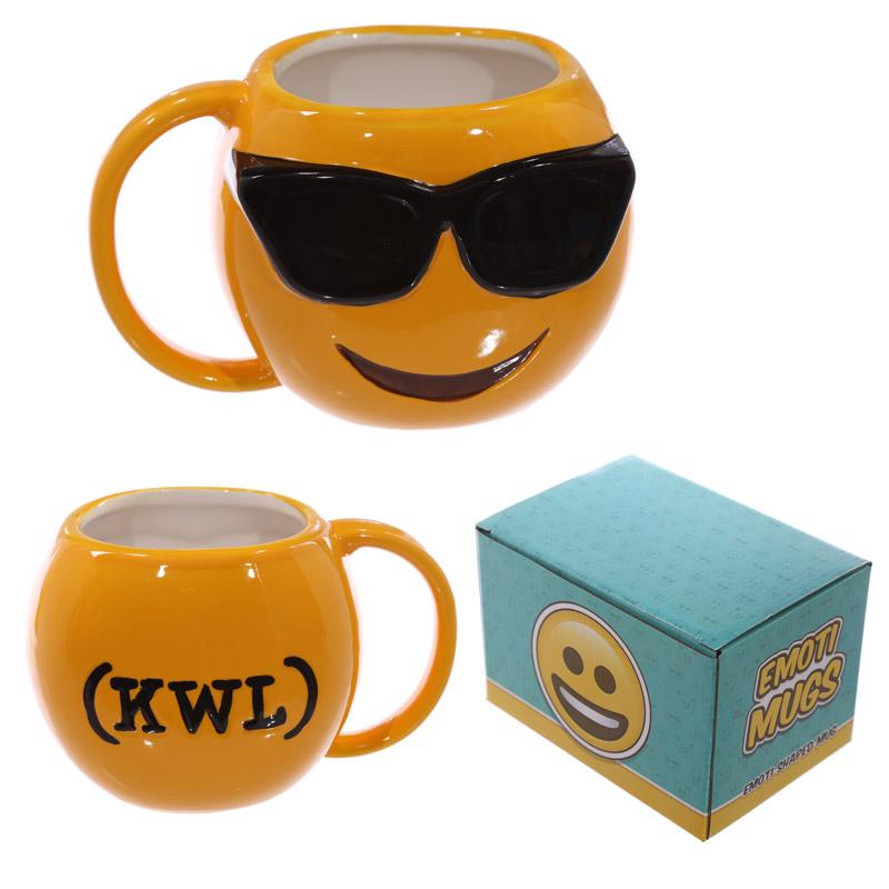 Fun Collectable Ceramic Sunglasses Face Emotive Mug