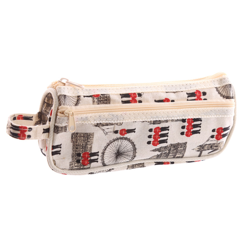 Fun Cotton Fabric London Design Pencil Case