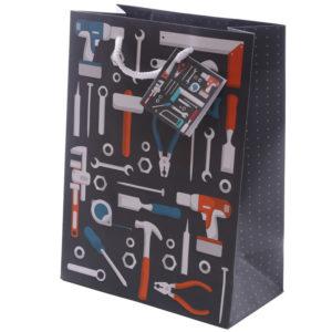 Fun Dad Tool Design Medium Glossy Gift Bag