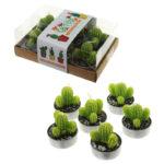 Fun Decorative Spiky Cactus Candles - Set of 6 Tea Lights