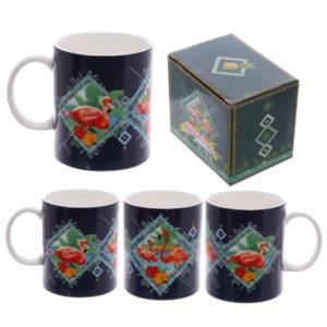 Fun New Bone China Mug - Flamingo Design