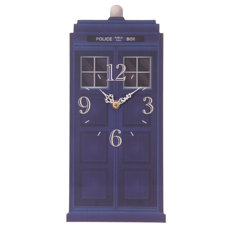 Fun Novelty Police Box Shaped Wall Clock