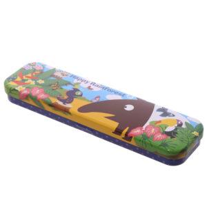 Fun Rainforest Design Metal Pencil Case