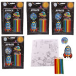 Fun Space Design Colouring Pencil Stationery Set