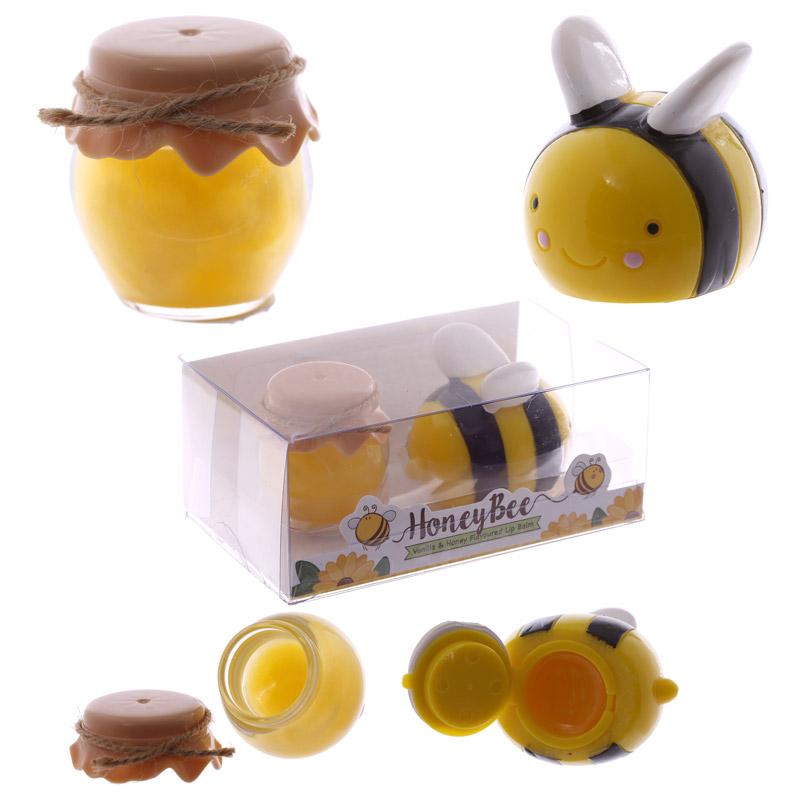 Funky Lip Balm - Bee and Honey Pot Twin Set
