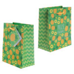 Funky Pineapple and Watermelon Design Small Glossy Gift Bag