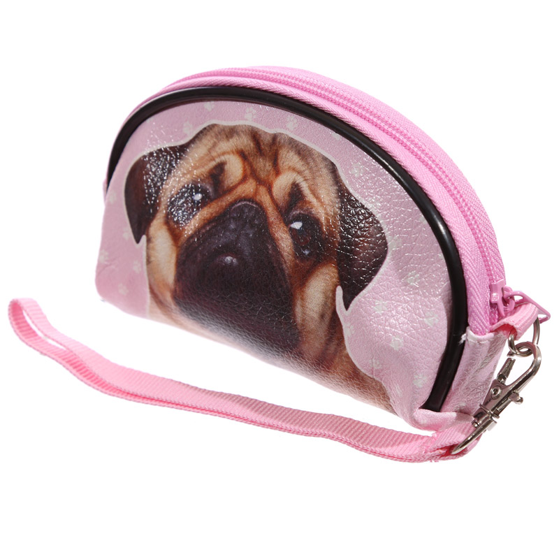 Funky Pug Small Make Up Bag