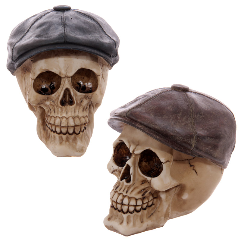Gruesome Skull Flat Cap Ornament