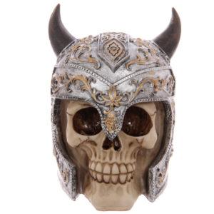 Gruesome Skull Viking Helmet Ornament