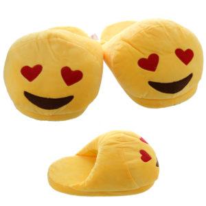 Heart Eyes Open Back Emotive Pair of Unisex Slippers