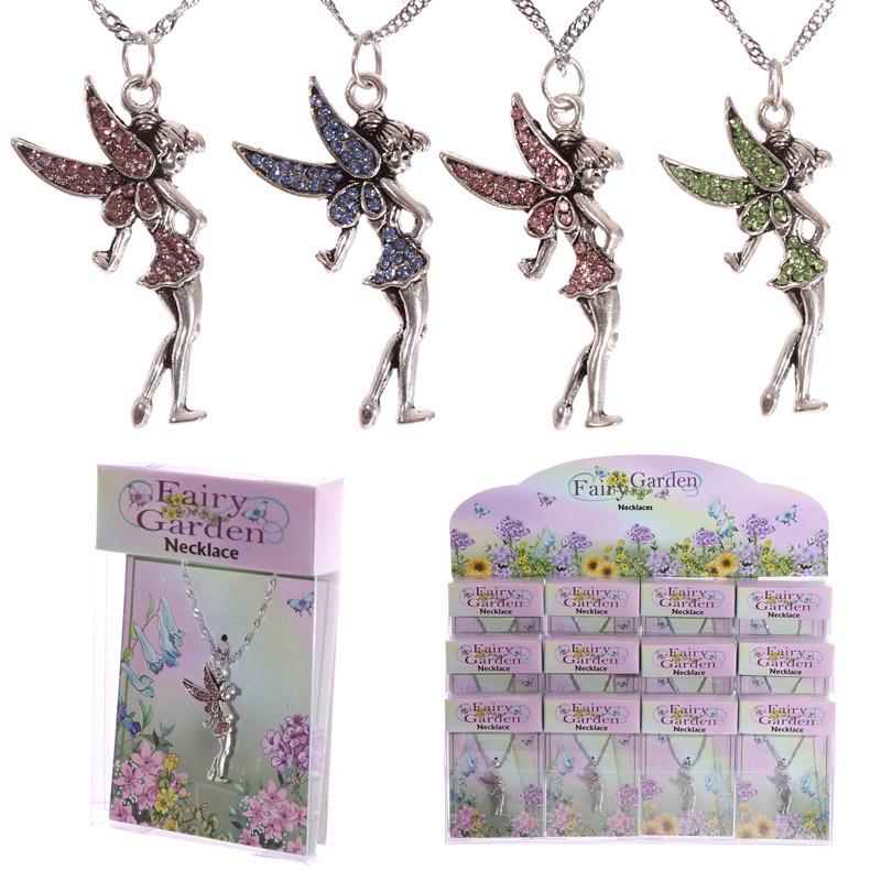 Kids Garden Fairy Gemstone Necklace Pendant