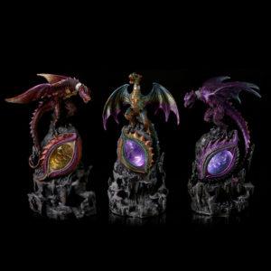 LED Rock Eye Dark Legends Dragon Figurine