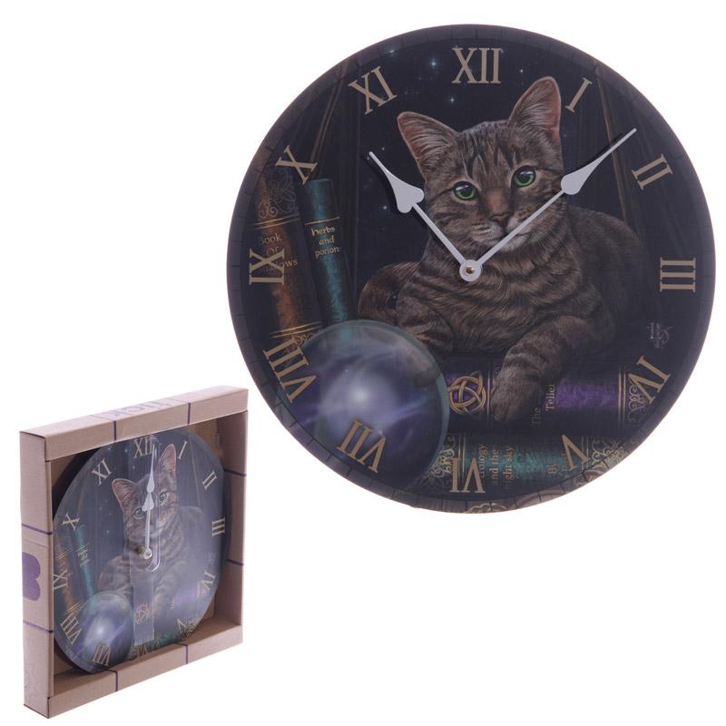 Magical Fortune Teller Cat Lisa Parker Design Wall Clock