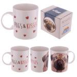 New Bone China Mug - Cute Love Pugs