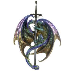 Nightmare Sword Fantasy Dragon Figurine