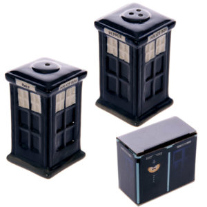 Novelty Ceramic Police Box Salt and Pepper Set