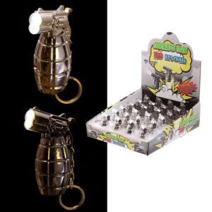 Novelty Grenade Gun LED Keyring