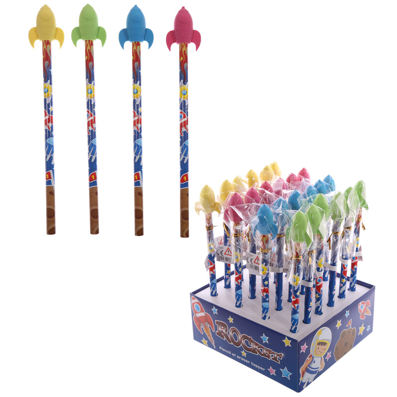 Novelty Kids Rocket Design Pencil and Eraser