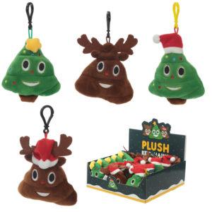 Plush Christmas Themed Emotive Sound Keyring