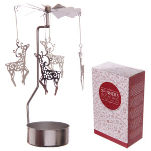 Reindeer Design Metal Tealight Spinner