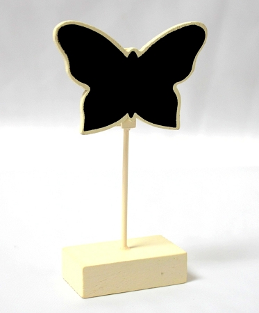 Butterfly Place Card Holder Chalk Boarding Ivory