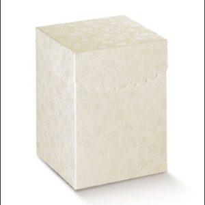 Fiorami Box Folded Scalloped Lid Size 100x100x160Fiorami Box Folded Scalloped Lid Size 100x100x160
