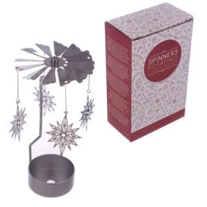 Snowflake Christmas Design Metal Tea Light Spinner