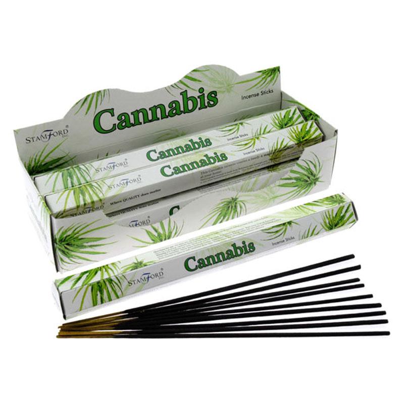 Stamford Hex Incense Sticks - Cannabis