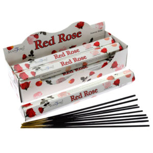 Stamford Hex Incense Sticks - Red Rose