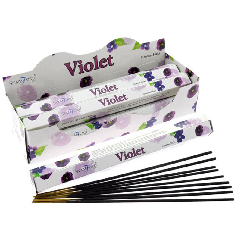 Stamford Hex Incense Sticks - Violet