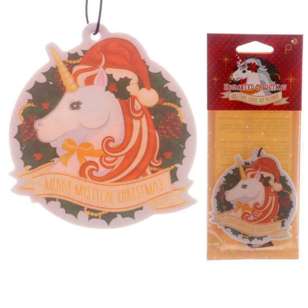 Unicorn Shaped Christmas Cookie Scented Christmas Air Freshener
