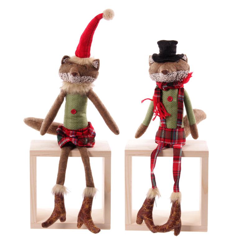 Winter Fox Collection - Red Tartan Tall Sitting Design