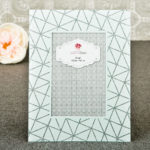 White Geometric Glass Frame 4×6 From Gifts By Solefavors