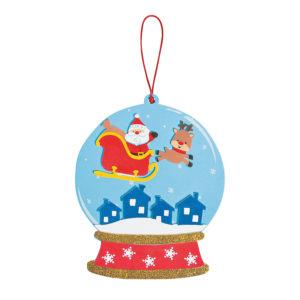 12 x Santa And Reindeer Snow globe Sign Craft Kit12 x Santa And Reindeer Snow globe Sign Craft Kit