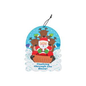 12 x Santa And Reindeer Sign Craft Kit12 x Santa And Reindeer Sign Craft Kit