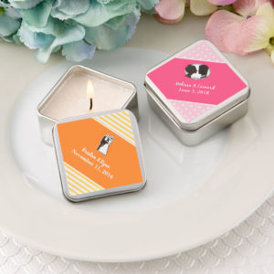 Personalised Expressions Square Silver Metal Travel Candle TinPersonalised Expressions Square Silver Metal Travel Candle Tin