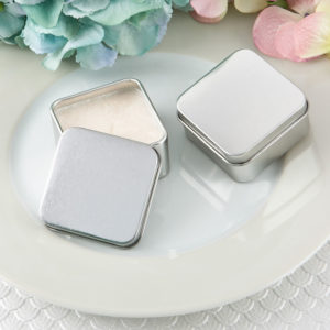 Perfectly Plain Collection Square Silver Metal Travel Candle TinPerfectly Plain Collection Square Silver Metal Travel Candle Tin